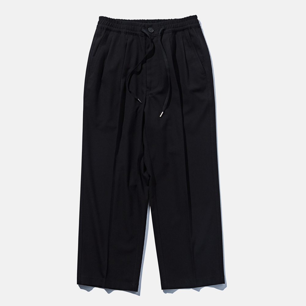 DTR1923 Wide Slax Pants Black