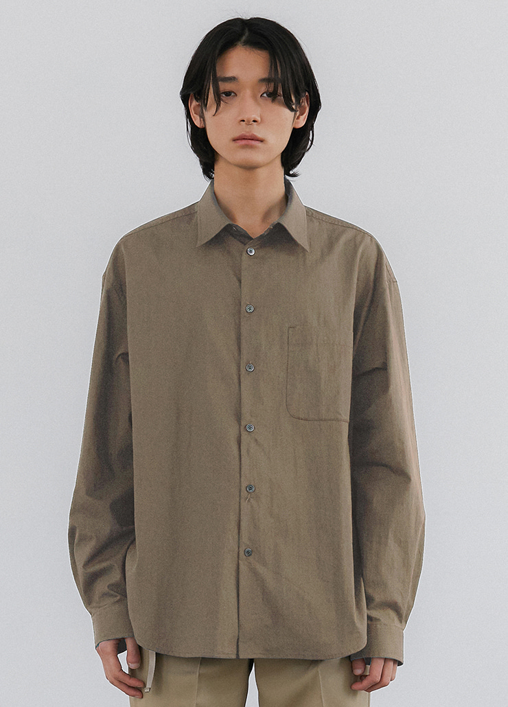 ESSENTIAL OVERSIZED SHIRTS (KHAKI BEIGE)