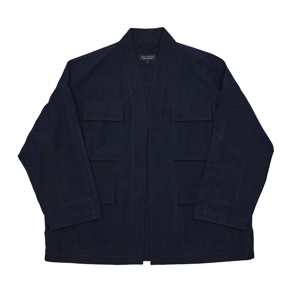 RIPSTOP B.D.U ROBE JACKET (NAVY)