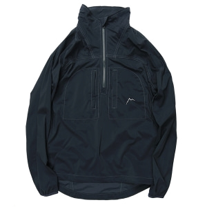 Stretch nylon half zip jacket / navy