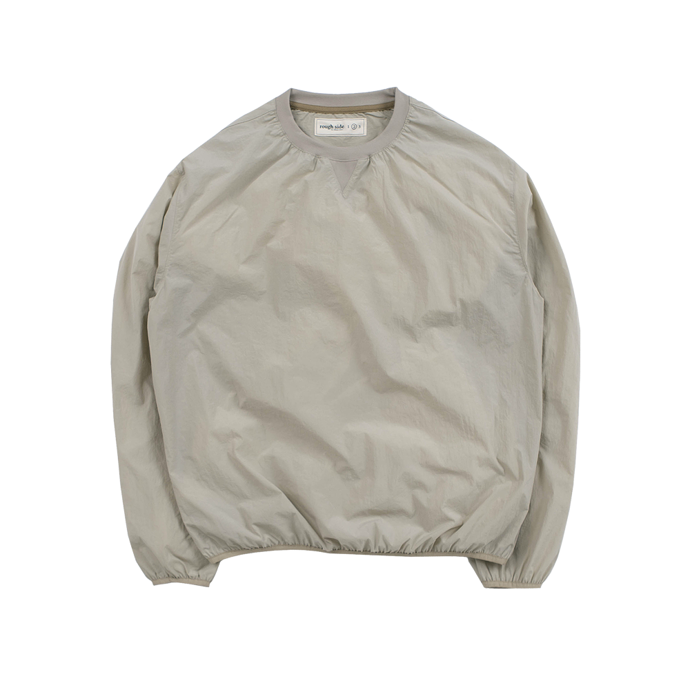 104. Shirring Pullover Shirts Oatmeal