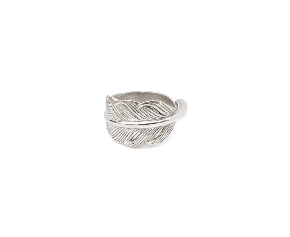 Small Kazekiri Feather Ring