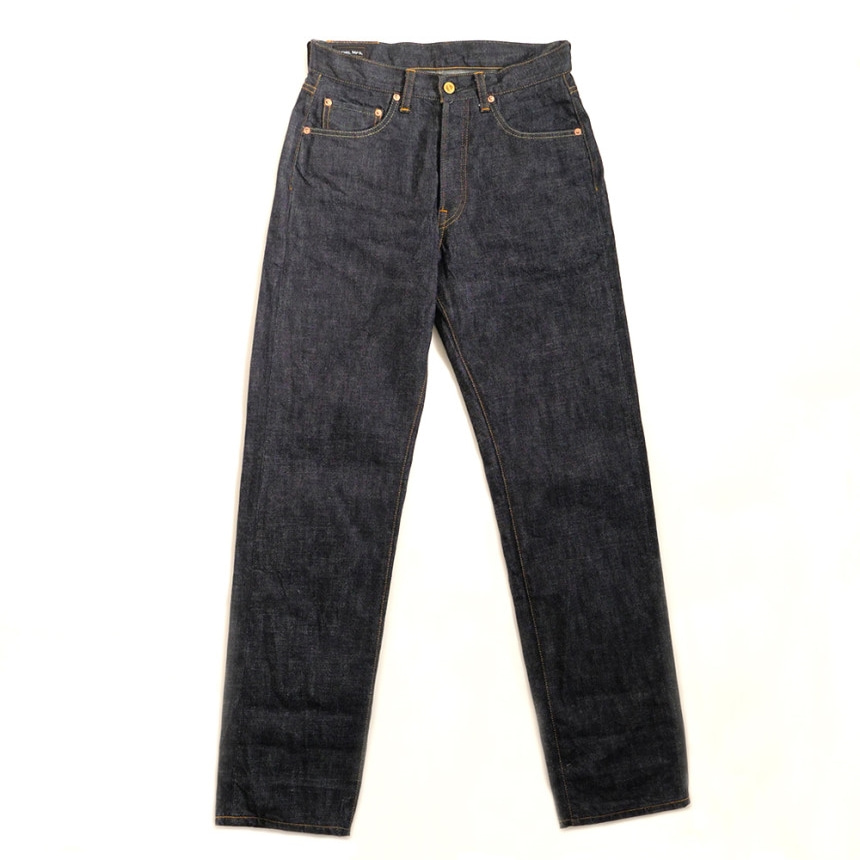 LOT 012P 14OZ SLM STRAIGHT DENIM ONE WASH