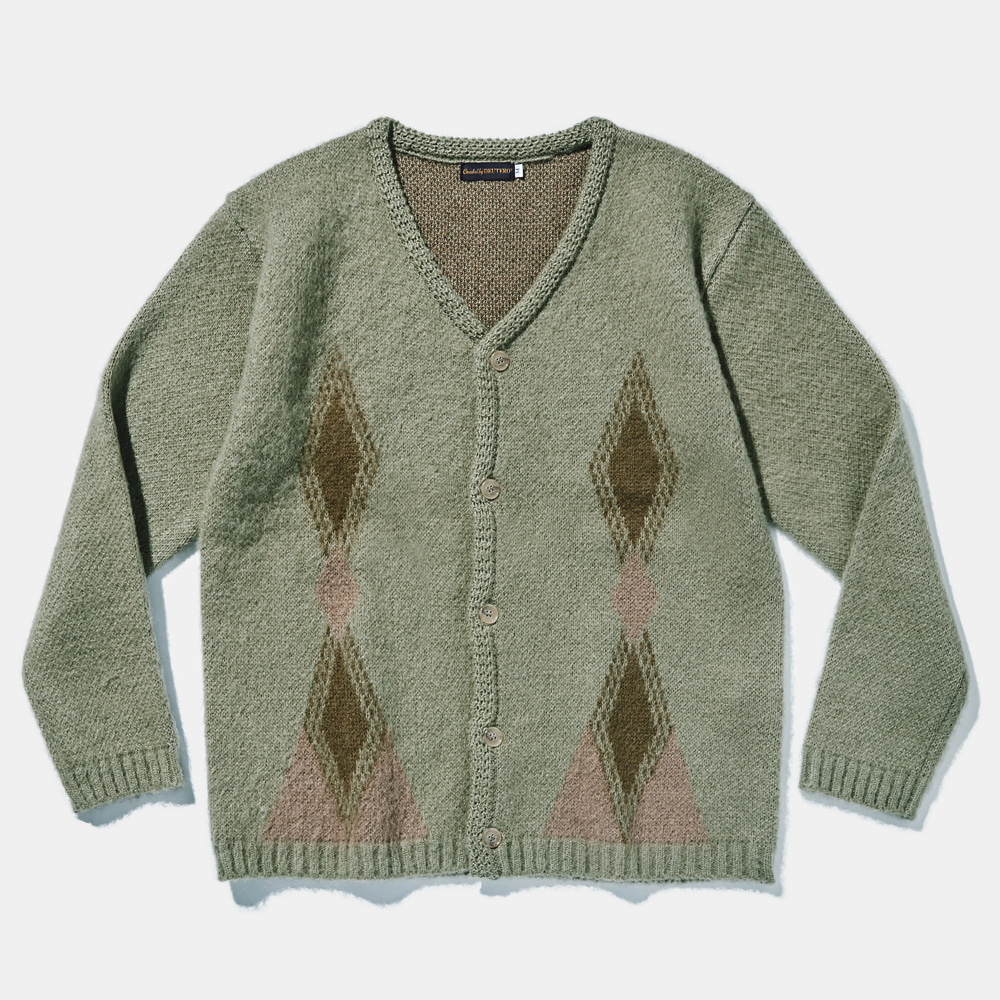DTR1916 Past Mohair Cardigan olive