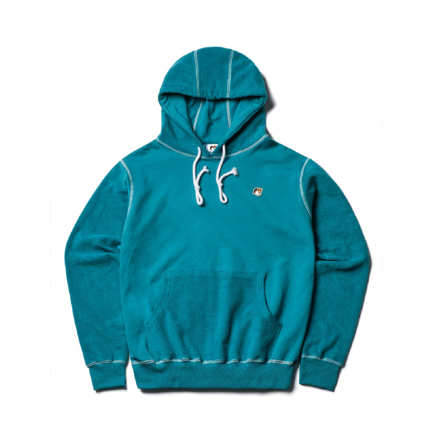 COLLEY POPOVER HOODY (Turquoise)