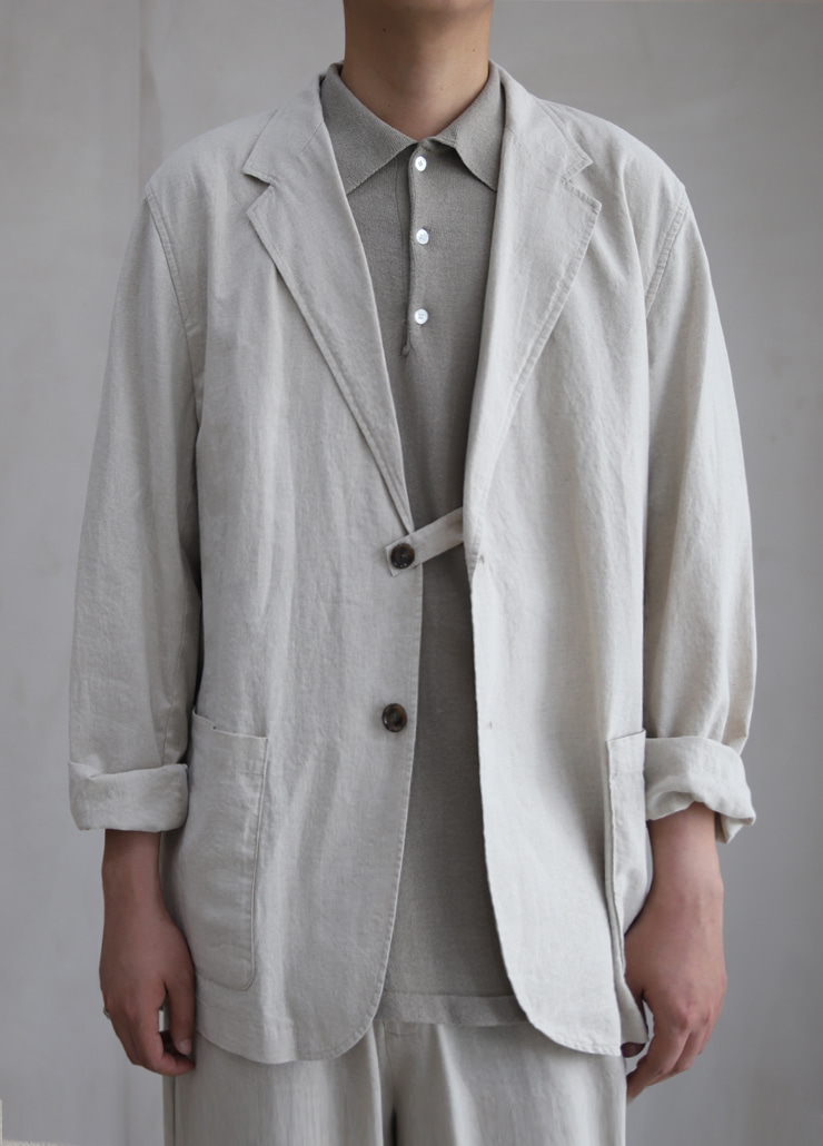 ALL WEATHE STANDARD JACKET IVORY (LINNEN)